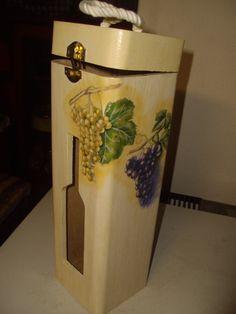 portabottiglia in legno