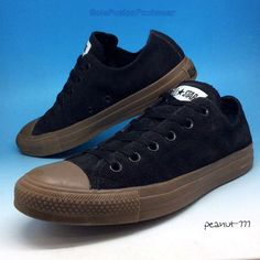 dd94b30692ab Converse All Star Mens Suede Trainers size 8 Black Sneakers Womens US 10 EU  41.5