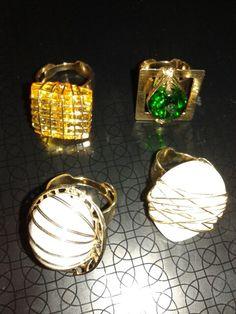 Semi jóias foleadas a ouro.