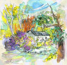 Borderes Sur Echez 02 Painting by Miki De Goodaboom