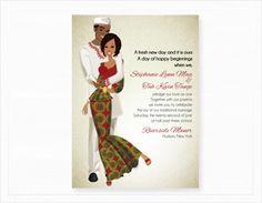 Idée de carte d'invitation mariage