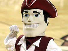 UMass Minutemen mascot, Sam the Minuteman.