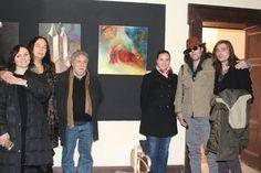 Con L artista Bongiovanni la bravissima giornalista Francesca Nanni chiara testa e mia moglie