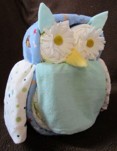 Diaper Owl Boy/Girl Diaper Animals (about 10 inches tall) Baby Shower Decoration, Mom to Be Gift, Nursery Decoration. $40.75, via Etsy.