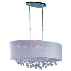 Sheer Shade Crystal Ball Chandelier - 9 Light