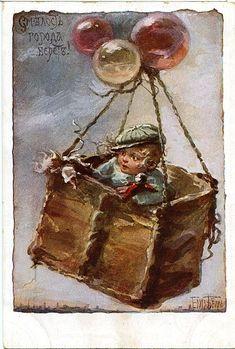 Elizabeth Bem -Russian - (1834-1914) - vintage postcard 1914