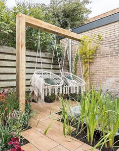Dekoration Awesome Backyard Garden Ideas Relaxing Seat seats SWINGGarden swing seat 80 Awesome Garden Swing Seats Ideas for Backyard Relaxing Garden Swing Seat, Porch Swing, Terrace Garden, Garden Swings, Diy Swing, Outside Swing, Pallet Swing Beds, Garden Hammock, Hanging Hammock