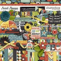 Chatterbox digi kit by Traci Reed. I have a chatterbox and this kit is perfect for him!