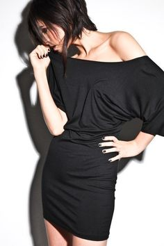 Off The Shoulder Black Dress - Sexy Party Fashion Womens Clothing Small Medium Large. $37.00, via Etsy.