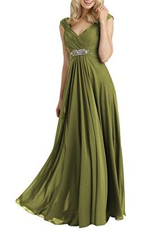 Always Pretty Womens VNeck Empire Line Mother of The Bride Dresses Olive US 10 * You can get more details by clicking on the image.