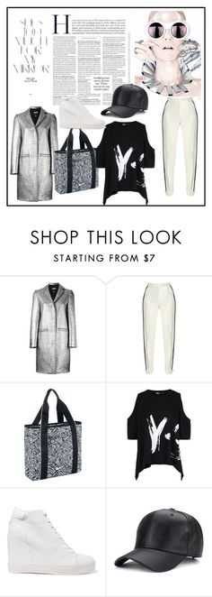 """""""Untitled #47"""" by glamheartcafe ❤ liked on Polyvore featuring Rika, MSGM, Elie Saab, NIKE, Y-3 and DKNY"""