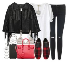 """""""Untitled #3202"""" by hellomissapple ❤ liked on Polyvore featuring American Vintage, Black Apple, By Malene Birger, Talula, Yves Saint Laurent and Forever 21"""