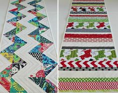 Reversible Quilts: 5 Projects to Try  Patterned Holiday Table Runners
