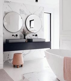 In love with the bathroom of @mattandkimrescue Photo by @oh.eight.oh.nine styling by @13interiors for @adoremagazine  . . . . . . . . . #marble#marmor#bathroominspo #bathroom#homestyling#nordicdesign#nordicinspiration#nordicinterior#scandinaviandesign#scandinavianstyle#scandinavianhome#interiorforyou#interiorandhome#interiorinspo#interior_design#interiorstyling#interiorinspiration#instahome #Repost @interior4all (@get_repost)