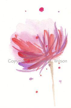 Delight  Original watercolor ACEO