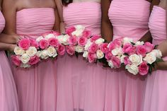 bridesmaids and flowers Pink Bridesmaids, Bridesmaid Dresses, Wedding Dresses, Wedding Ceremony, Reception, Wedding Colors, Wedding Ideas, Ring Bearer, Wedding Planner