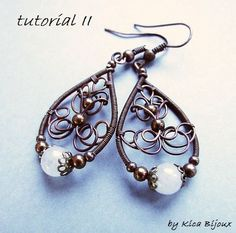 tutorial  II - jewelry tutorials - wire wrapped earrings