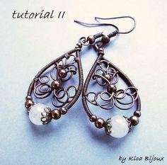 tutorial  II - jewelry tutorials - wire wrapped earrings