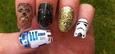 Unhas decoradas com o tema Star Wars - VilaMulher