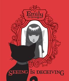 Emily the Strange: Seeing Is Deceiving Emily The Strange, Afraid Of The Dark, Goth Girls, Spirit Animal, Faeries, Dark Art, Unique Art, Creepy, Illustration Art