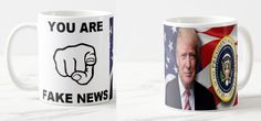 Donald Trump 45 president fake news  Coffee Tea Mug  #repersonalisedprinting