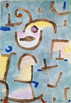 Paul Klee 'Will zu Schiff' 1939 Watercolor on paper attached to the artist's mount