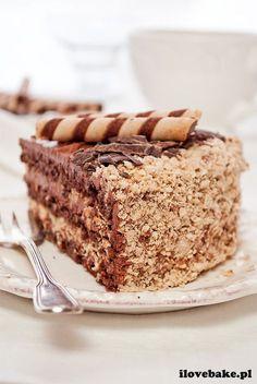 Ferrero rocher cake, the best recipe- Tort ferrero rocher, najlepszy – przepis cake Ferrero Rocher - Nutella, Sweet Recipes, Cake Recipes, Raspberry Smoothie, Gingerbread Cake, Salty Cake, Polish Recipes, Food Cakes, Savoury Cake