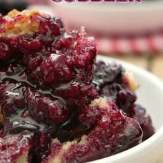 Berry cobbler recipes - Triple Berry Cobbler is loaded with fresh blackberries, blueberries and raspberries and has a cake like topping cobbler dessert cobblerrecipes blackberries blueberries raspberries oldfashioned Easy Cherry Cobbler, Triple Berry Cobbler, Mixed Berry Cobbler, Raspberry Cobbler, Fresh Peach Cobbler, Fruit Cobbler, Blueberry Cobbler, Cobbler Recipe, Mixed Berry Crisp