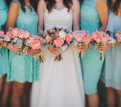 tiffany blue and pink flower arrangements - Google Search