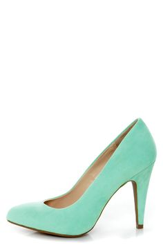Spring Shoe Preview - Anne Michelle Adoncia 01 Mint Pointed Pumps