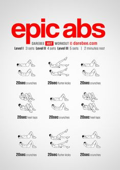 free workouts: cardio, strength, hiit and abs by darebee. Abs Workout Video, Six Pack Abs Workout, Ab Workout Men, Best Ab Workout, Ab Workout At Home, Men Exercise, Body Workouts, Workout Plan For Men, Workout Routine For Men