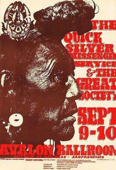 Family Dog poster #25 For Quicksilver Messenger Service at the Avalon Ballroom, September 9-10, 1966. Artists: Stanley Mouse and Alton Kelley.