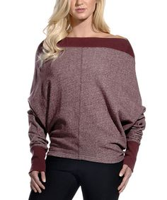 Look what I found on #zulily! Heather Zinfandel Innocence Top #zulilyfinds