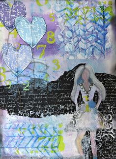 Renee Zarate's Mixed Media project with IC/T inks and Artistcellar stencils #stampingtonmade #nationalcraftmonth #