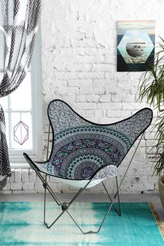 Magical Thinking Medallion Butterfly Chair Cover - Urban Outfitters