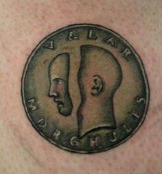 RedditPics - For GRRM's birthday, my ASOIAF tattoo. Valar Morghulis.