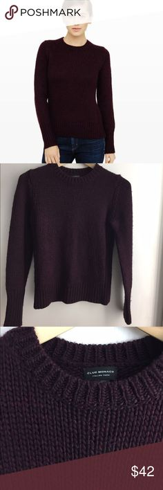 Club Monaco Begby sweater This fitted knit sweater, in a beautiful wine color, is a wardrobe staple! Extremely soft in a luxe wool blend, made of wool/acrylic/alpaca. Club Monaco Sweaters Crew & Scoop Necks