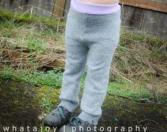 Wool Diaper Cover Base Layer Pants 3 4 Year Large 3t Soaker Girl Gray Longies Upcycled Girl Repurposed Warm Wee Wilkins Woolies Waldorf Soft