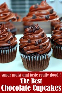 Chocolate Cupcakes From Scratch, Easy Chocolate Cupcake Recipe, Easy Chocolate Ganache, Super Moist Chocolate Cake, Cupcake Recipes From Scratch, Best Chocolate Cupcakes, Easy Cupcake Recipes, Delicious Chocolate, Chocolate Recipes