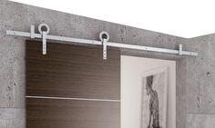 Schuifdeur systeem RVS geborsteld. Home Decor, Decor, Mirror, Furniture