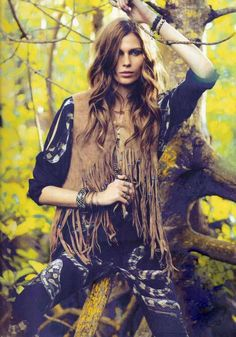 Forest Frolicking Editorials : Vogue Spain Feb 2012