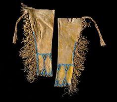 Assiniboine Beaded Hide Leggings - Cowan's Auctions