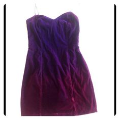 Purple velvet tank dress.  Looks darker in pic. Not sure if it is a small or medium.  28 inch waist.  L. A. Glow brand. L. A. Glow Dresses Mini