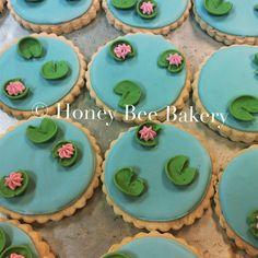 Lily pad cookies .                             #ribbit #lilypadcookies #allnaturalcookies #icedsugarcookies #royalicing #honeybeecookies #honeybeebakery #madebyhand #madefromscratch