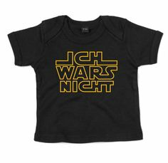 : ICH WARS NICHT ::: Grafikdesign Shirt made with Love ::: Baby T-Shirt Jungen: Amazon.de: Bekleidung