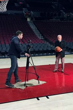 """Bill """"Rip City"""" Schonely is shooting another great commercial with Standard TV & Appliance, straight from the court!"""