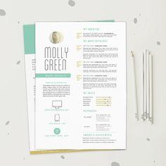 Resume CV Template Cover Letter Design for Word by OddBitsStudio, $18.80
