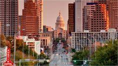 Austin Texas, Congress Ave and Capital Bidg.