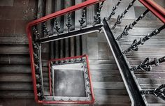 Stairs - red in black