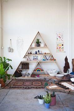 Bohemian Homes: geometric shelving